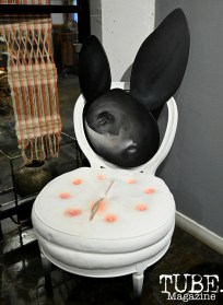 'NOT YOUR BUNNY' created by Artist Lin Fei Fei is currently on display at WAL Public Market Gallery in Sacramento CA. Photography Daniel James. 2019
