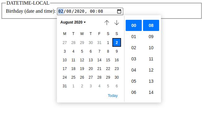 html 5 input datetime-local data type