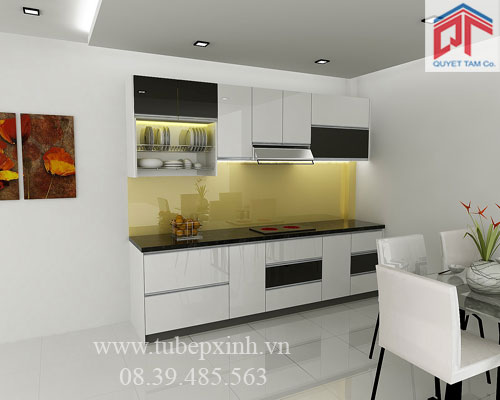 Tủ bếp Laminate Formica nhà anh Đạt