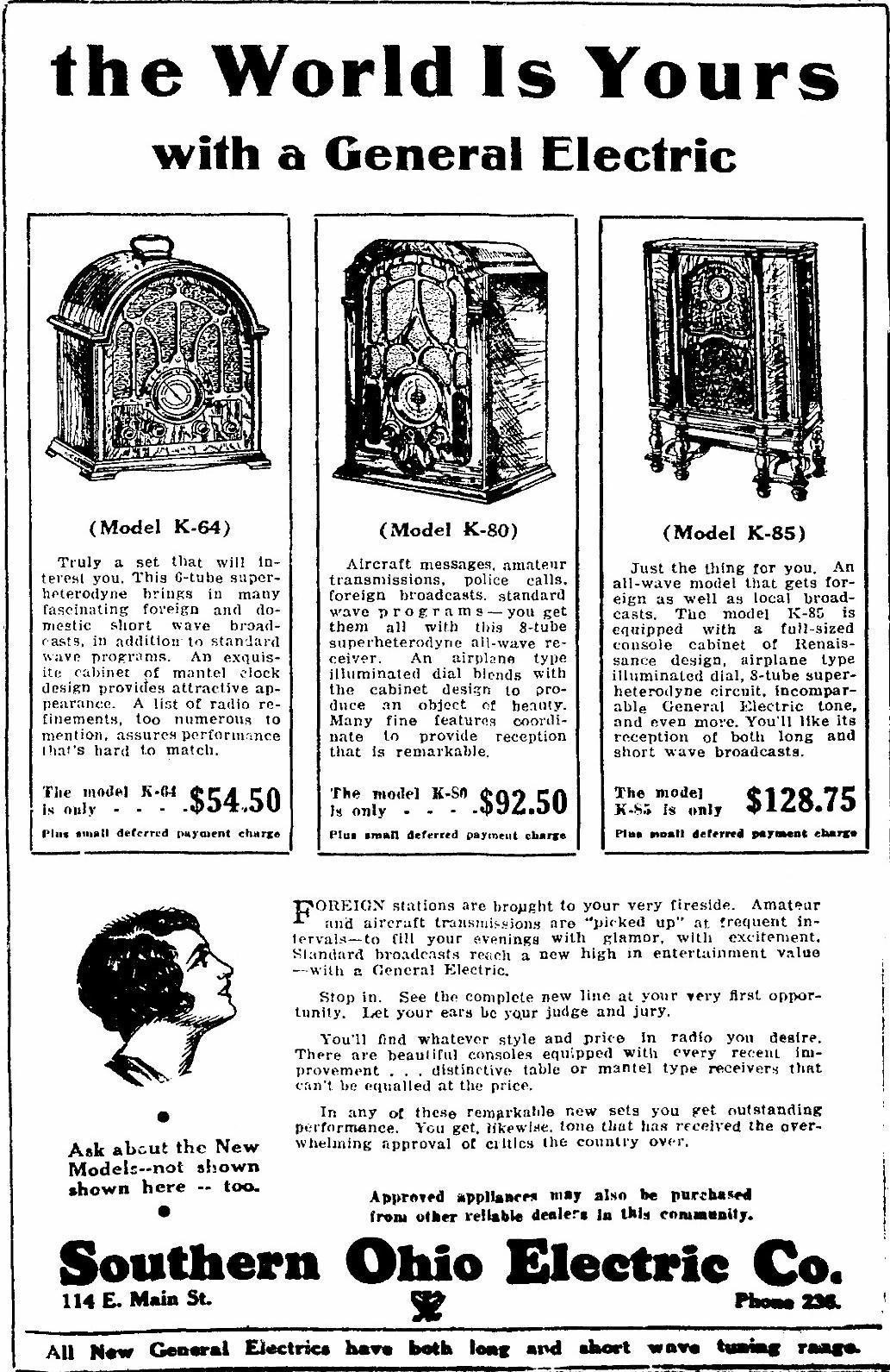 General Electric Ge Model K 64 Cathedral Radio