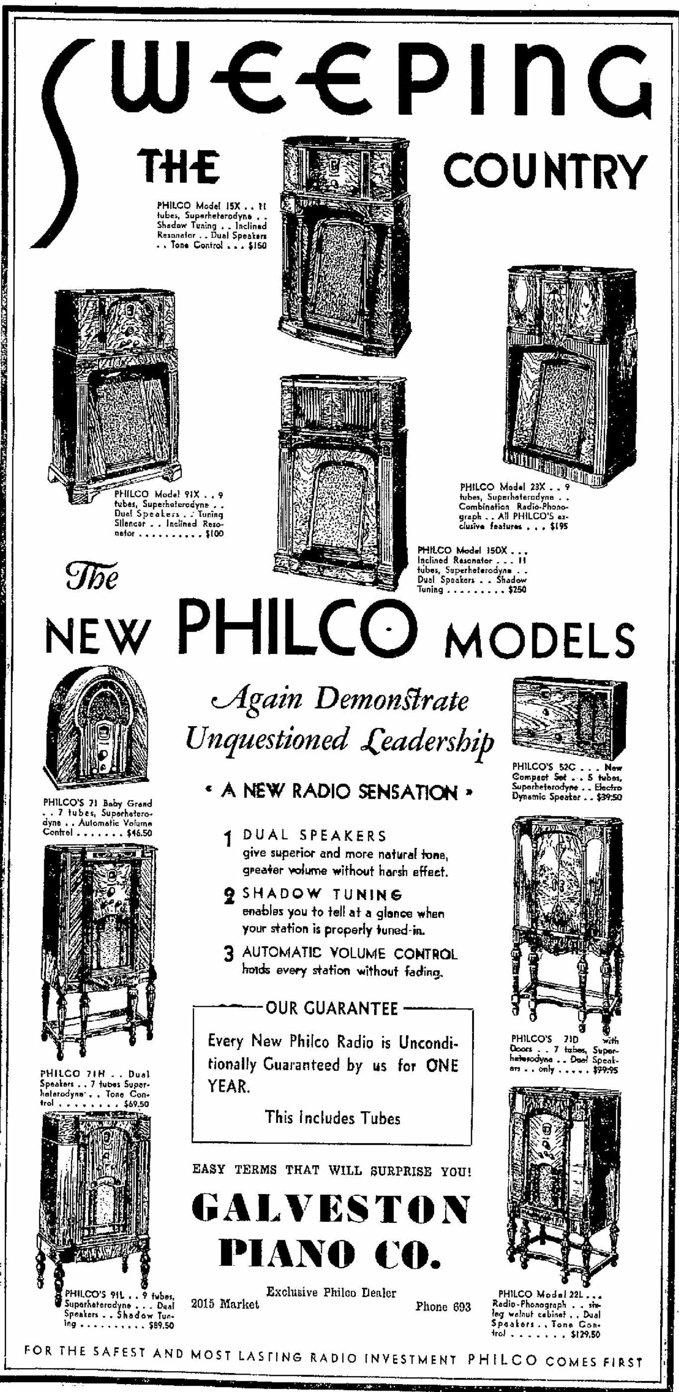 Philco Model 23x Radio Phonograph Console