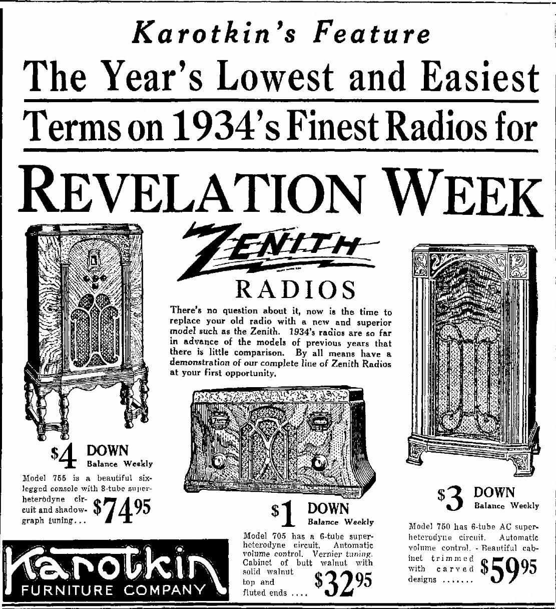 Zenith 705 Table Radio