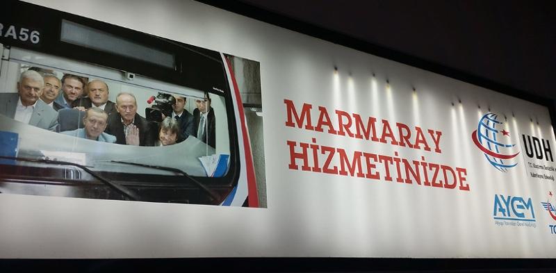 U-Bahn-Plakat mit Erdogan