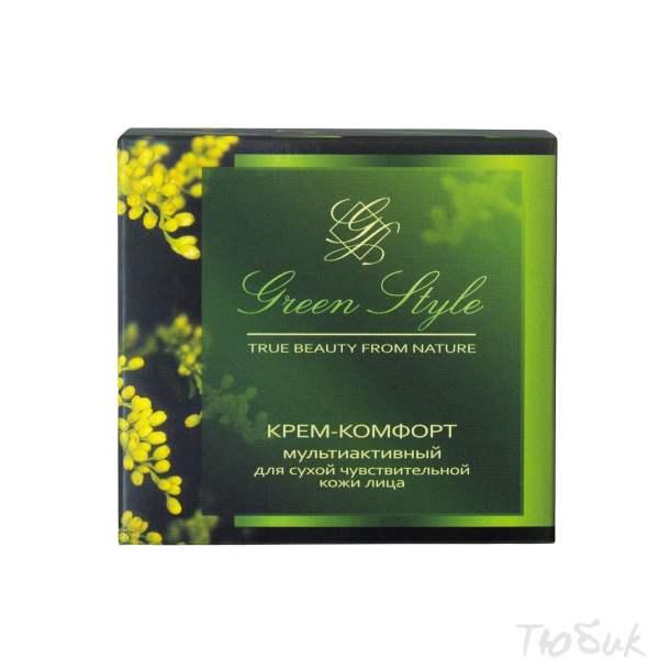 Крем-комфорт мультиактивный для сухой чувствительной кожи лица, Green style