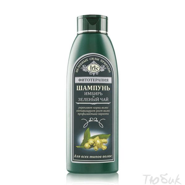 шампунь имбирь зеленый чай Iris