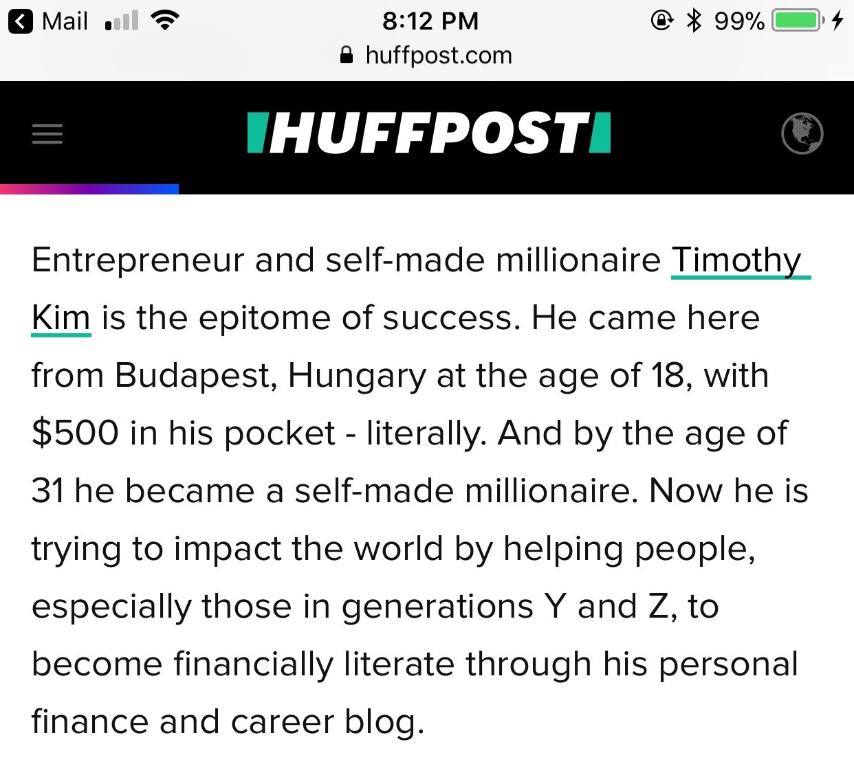 I Was Featured On the Huffington Post!