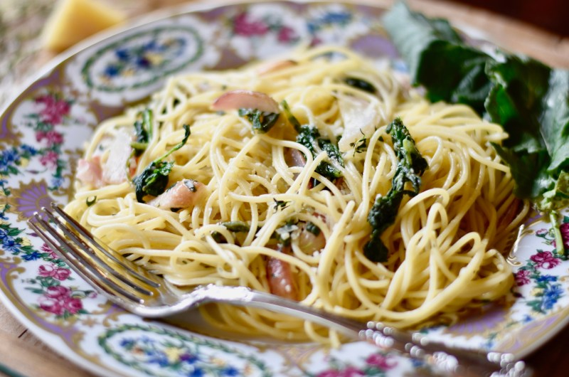 Pasta with French Breakfast Radishes and Greens