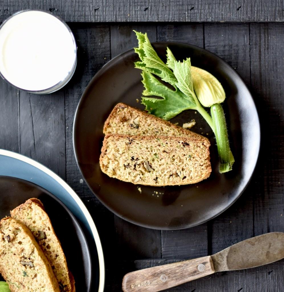 plate of zucchini bread
