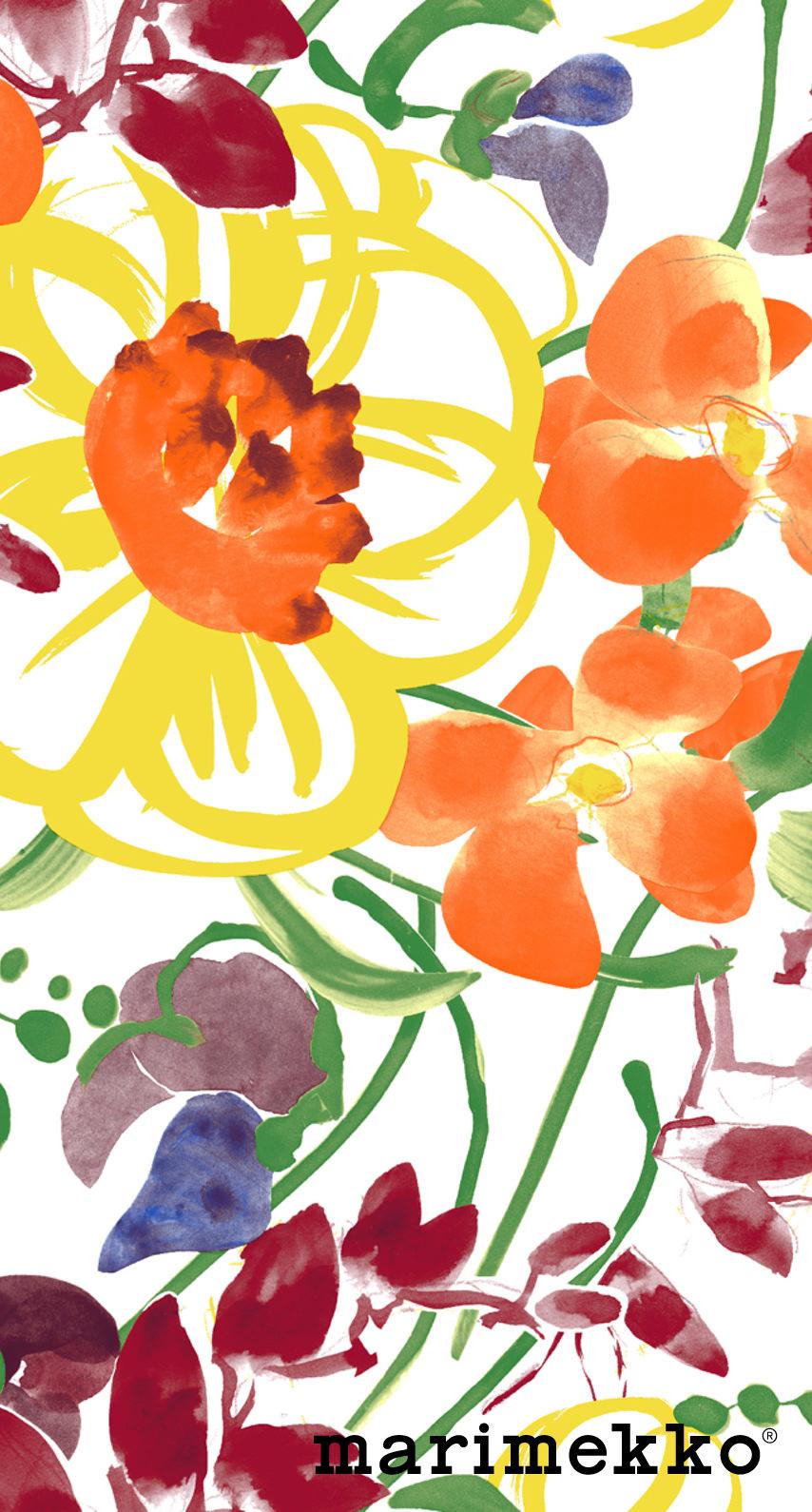 マリメッコ 花柄3 マリメッコ Marimekko Iphoneスマホ壁紙