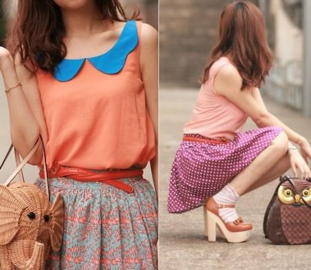 Não para só nas roupas, o laranja toma conta dos sapatos, bolsas e ___