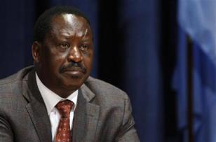 Kenya's PM Odinga attends a news conference on the situation in the Horn of Africa, at the U.N. headquarters in New York