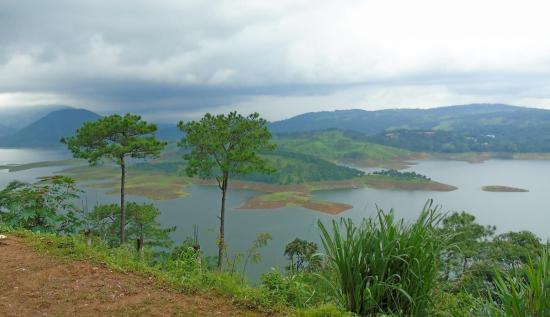 Umiam Lake of Shillong from a viewpoint located along NH-40