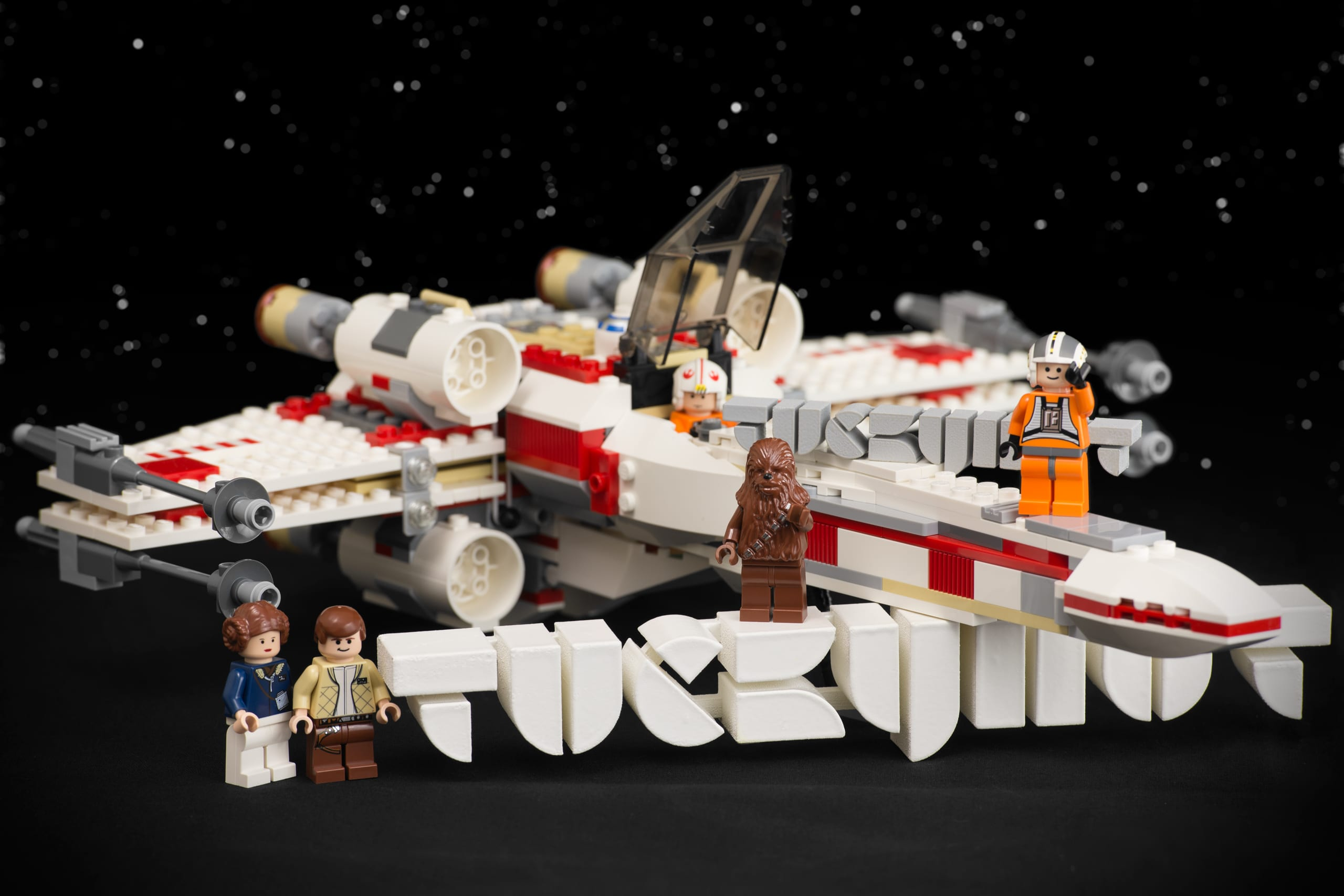 Tuckyhut 3D Logos with X-Wing & Crew