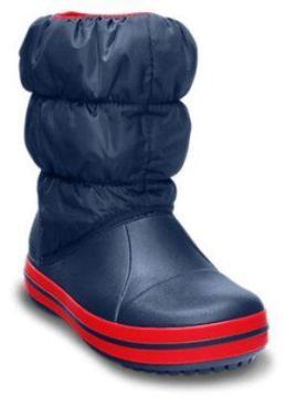 Cizme iarna Crocs - culoarea albastru navy-rosu
