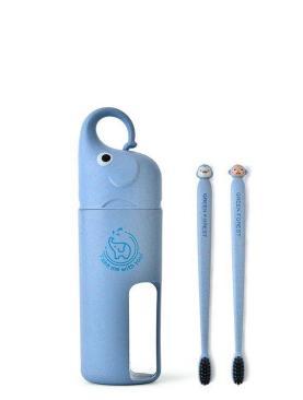 Set suport si periuta de dinti  pentru calatorie - culoarea bleu