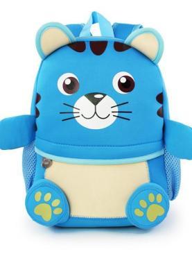 Ghiozdan 3d animals - culoarea bleu