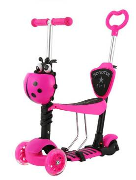 Trotineta 5 in 1 ride and skate - culoarea roz