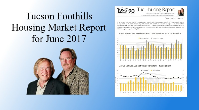 Home Prices in the Tucson Foothills for June 2017