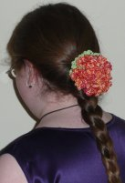 The flower my mom made that I wore in my hair at graduation. (She braided my hair for me too!)
