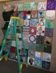She was part of a group of quilters who made a display called Fiber Artists Look at the Periodic Table. It is a really cool display, and sadly I can't seem to put links in captions, so I'll give you a link after these pictures.