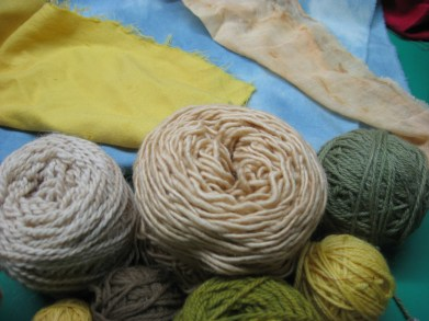 The fabric is also dyed using natural dyes