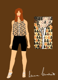 croqui blusa coleção egito