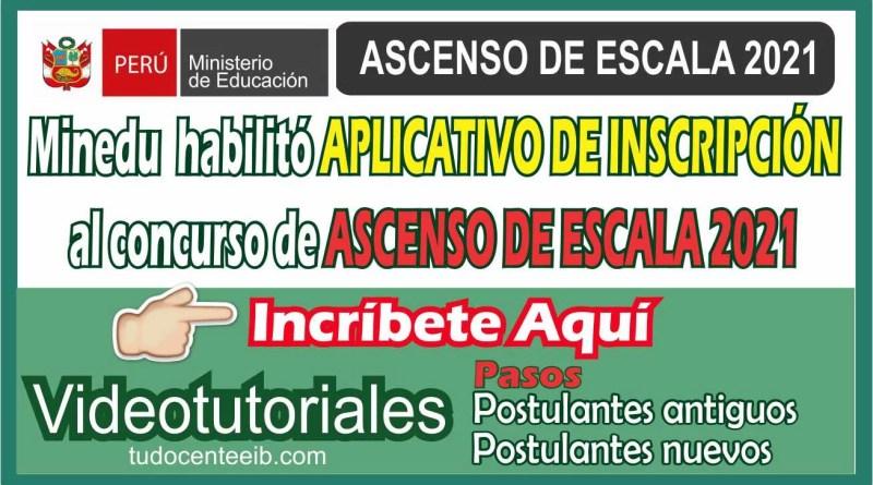 ASCENSO DE ESCALA MAGISTERIAL 2021 INCRIPCIONES