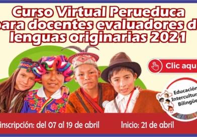 """Curso virtual para """"Evaluadores de lenguas originarias"""""""