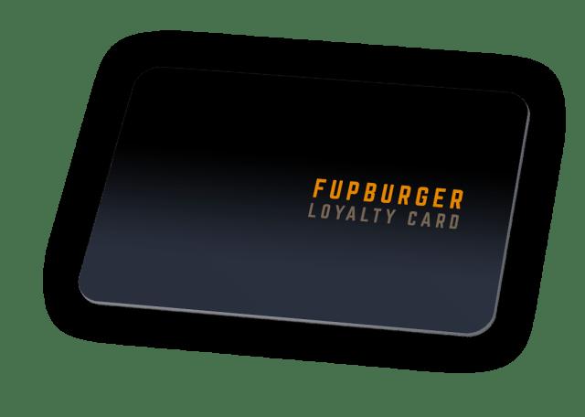 Fupburger Loyalty Card Dark Blue Mockup