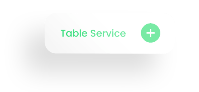 Table Service and button icon with shadow