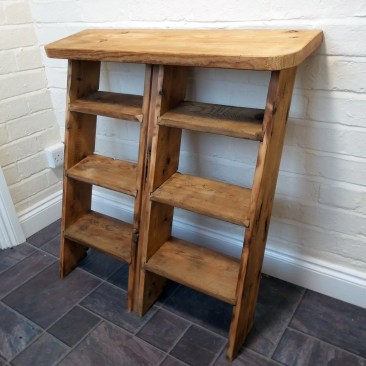 Bespoke Shoe Rack Recycled Ladder Shrewsbury Shropshire Carpenters