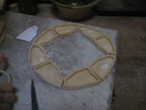 The second phase of the pastry knot takes shape