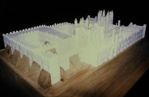 A sugar model of Hampton Court Palace approx 3ft x 2ft, made for the 1999/2000 millenium celebrations Photo courtesy Ian Franklin
