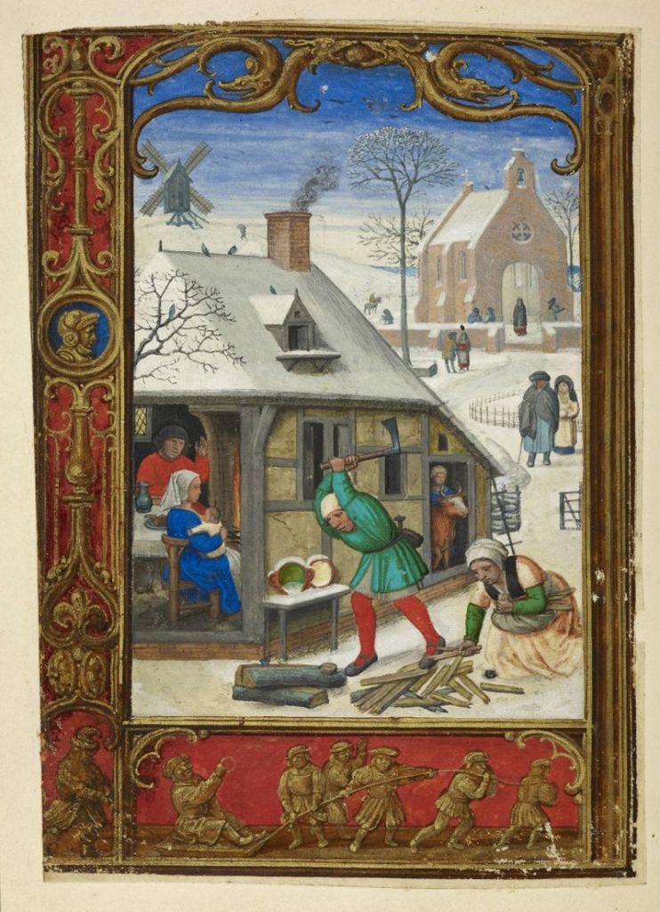 British Library Add. M.S. 24098 f18v, The Golf Hours