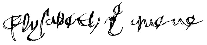 Eliz of York sig