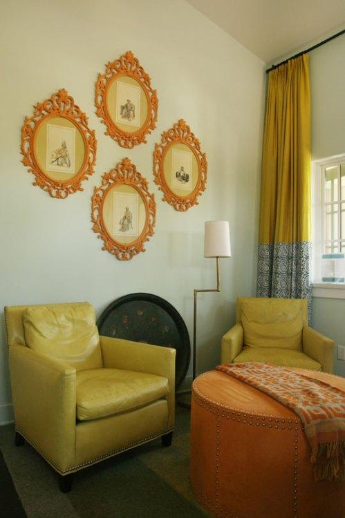 2 Robins Egg Blue Amp Chartreuse Living Rooms Tudorks
