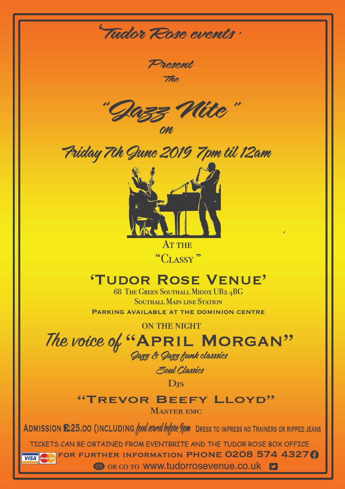 Tudor Rose Events Presents The Jazz Nite 1
