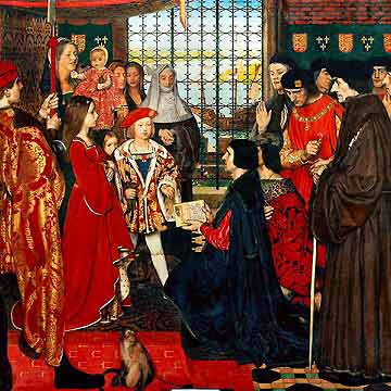 Erasmus is introduced to Prince Henry and Princess Margaret by More.