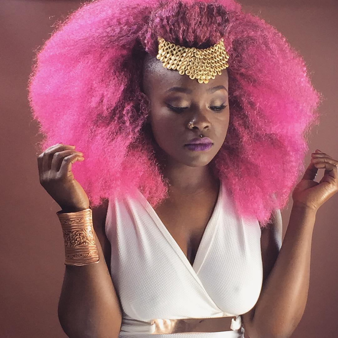 Cabelo Rosa Em Negra Afro Tudo Sobre Cabelos