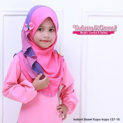 Instant Shawl Kupu-kupu (Pink & Ungu Muda) 127-10