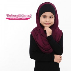 Instant Shawl Buble (Maroon) 8610-09