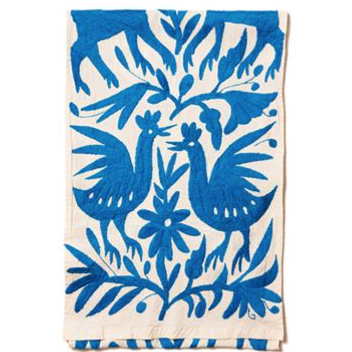 Rosewood Mayakoba Blue Cotton Table Runner TueNight.com