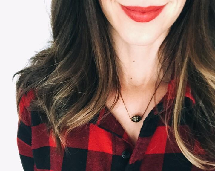 sarah james bloom makeup lipstick red lips
