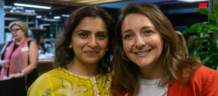Benish Shah and Carla Zanoni at TueNight Live