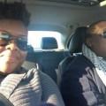 Tiffany Coln and Kayvone Harvey in a car