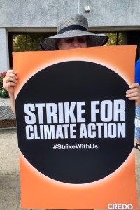 Tuesdays with Tillis protester marching for environment, climate justice