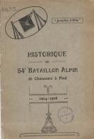 couverture de l'historique du 54° BACP
