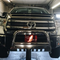 Bull Bar Installed w/Relocated Plate