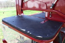 Padded Headboard for hoof trimming chute