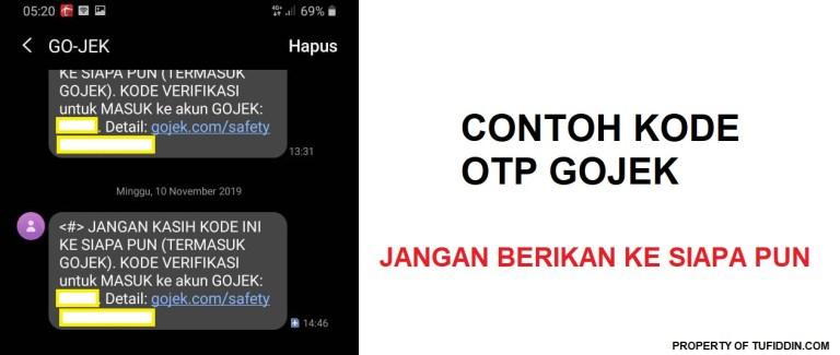 Pengertian kode OTP Gojek